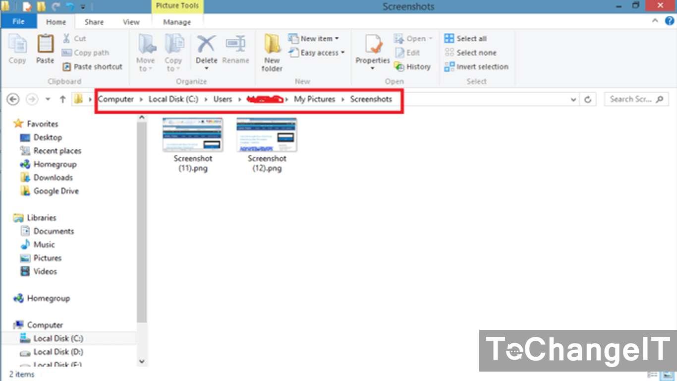 cara melihat hasil screenshot di windows 7