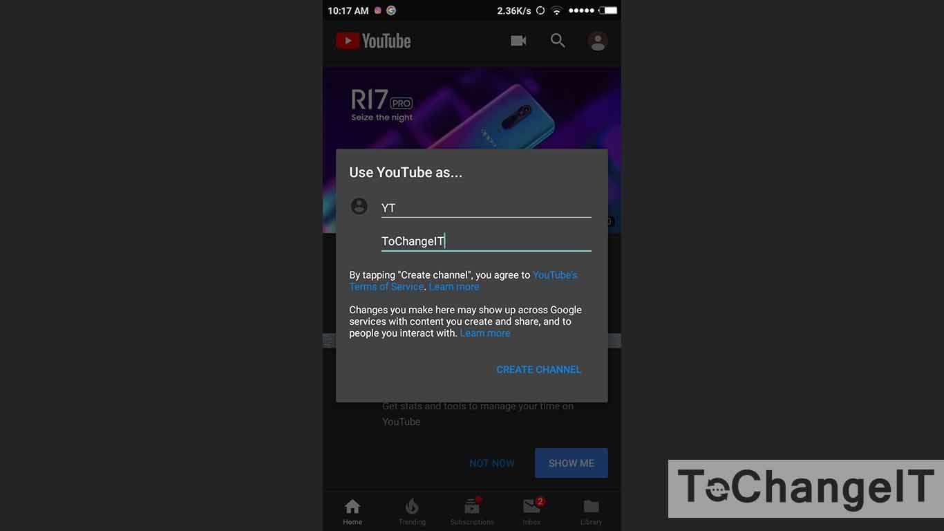 cara membuat channel di youtube menggunakan android