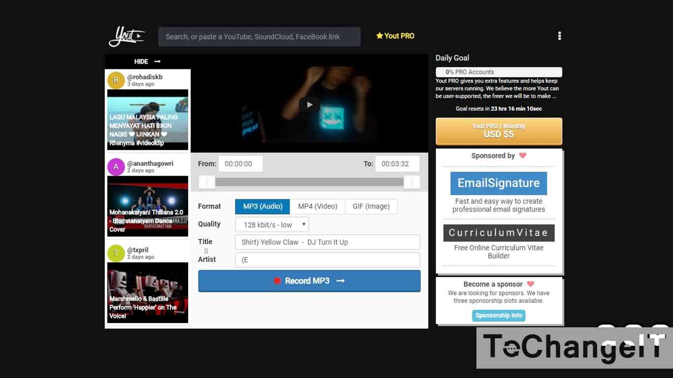 download youtube tanpa software mp3