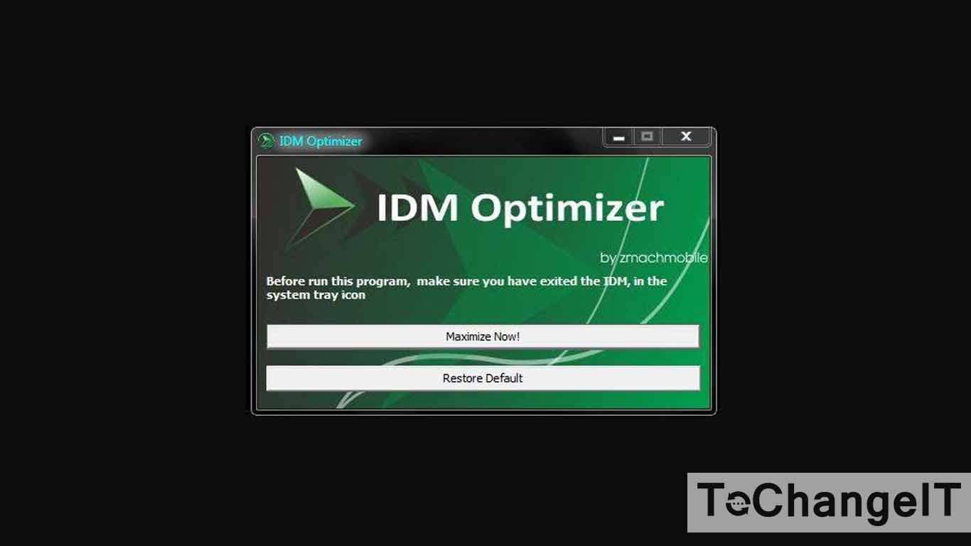 cara menggunakan idm optimizer