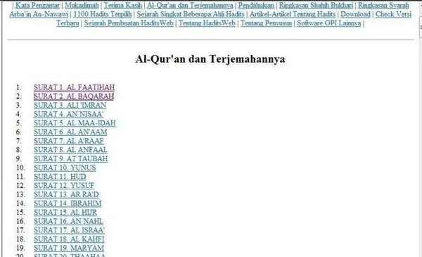 aplikasi Al quran dan Hadits