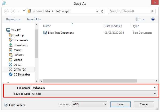 cara kunci folder di windows 10