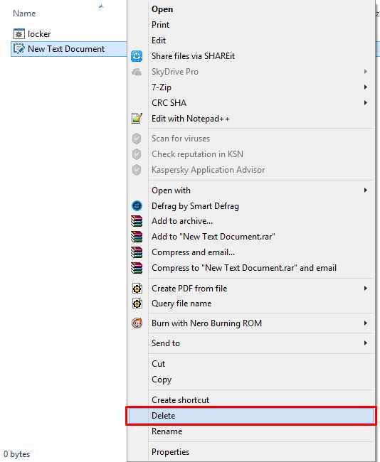 hapus file windows 8
