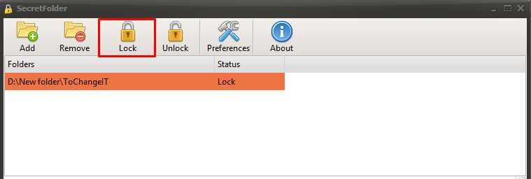 lock folder windows 10