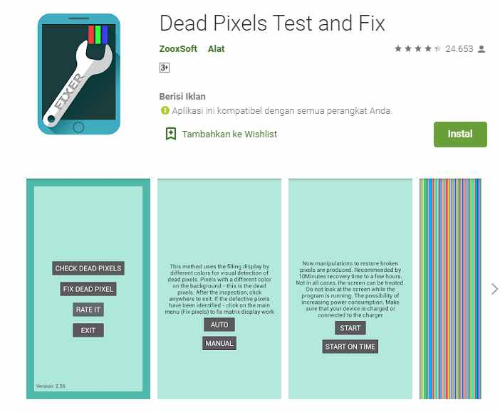 Dead Pixels Test and Fix