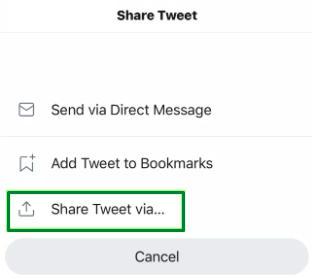 share tweet
