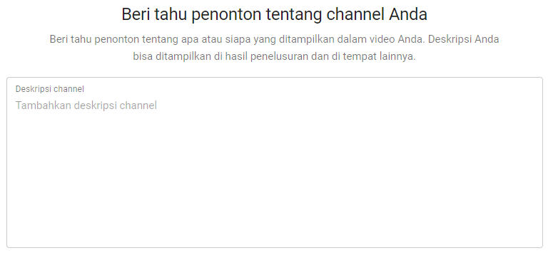 deskripsi channel youtube yang menarik