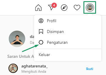 pengaturan profil instagram