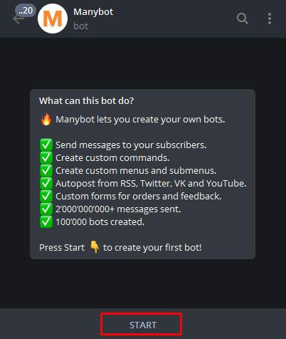 cara membuat bot telegram tanpa coding