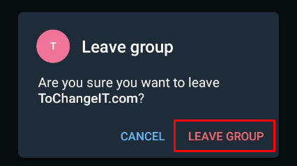 leave group telegram