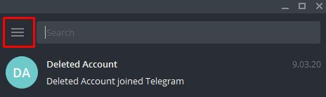 menu telegram desktop