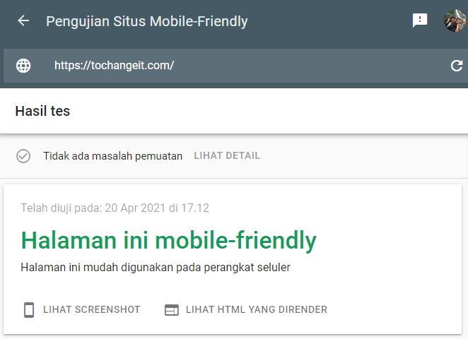 cara cek situs mobile friendly atau tidak