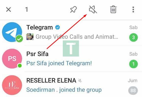 matikan notifikasi grup telegram