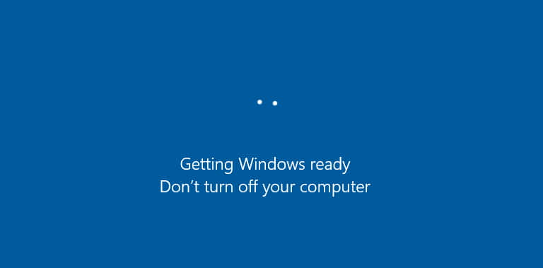 Getting Windows Ready Dont Turn Off Your Computer